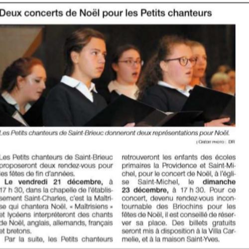 Deux concerts de Noël pour les Petits Chanteurs
