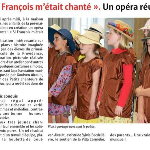 """"""" Si François m''était chanté""""Un opéra réussi"""
