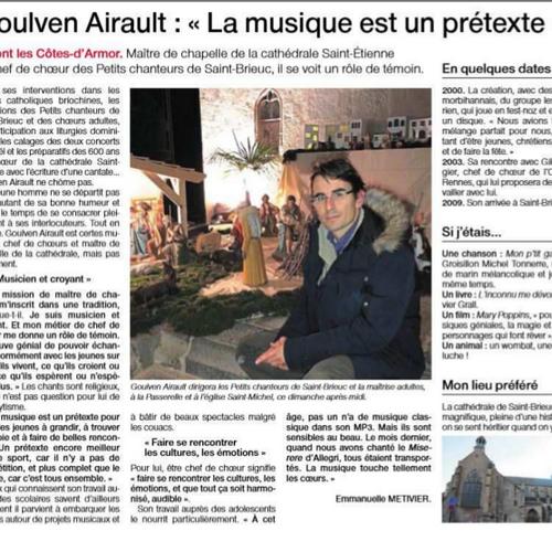 """Goulven Airault : """"La musique est un prétexte"""""""