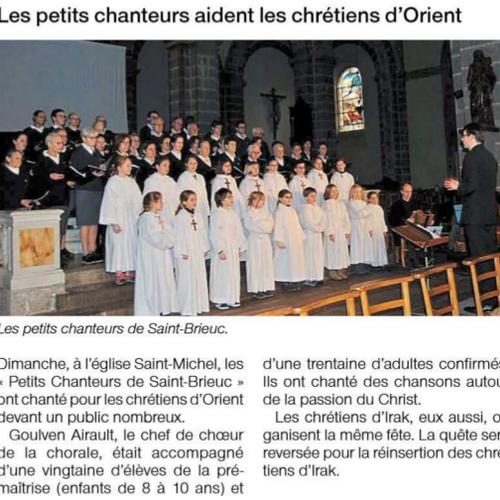 Les petits chanteurs aident les chrétiens d''Orient