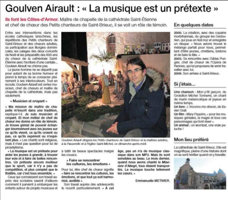 """Goulven Airault : """"La musique est un prétexte"""" 0"""
