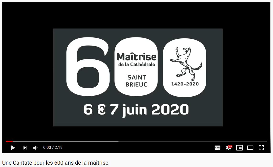 Vidéo - Une Cantate pour les 600 ans de la maîtrise 0