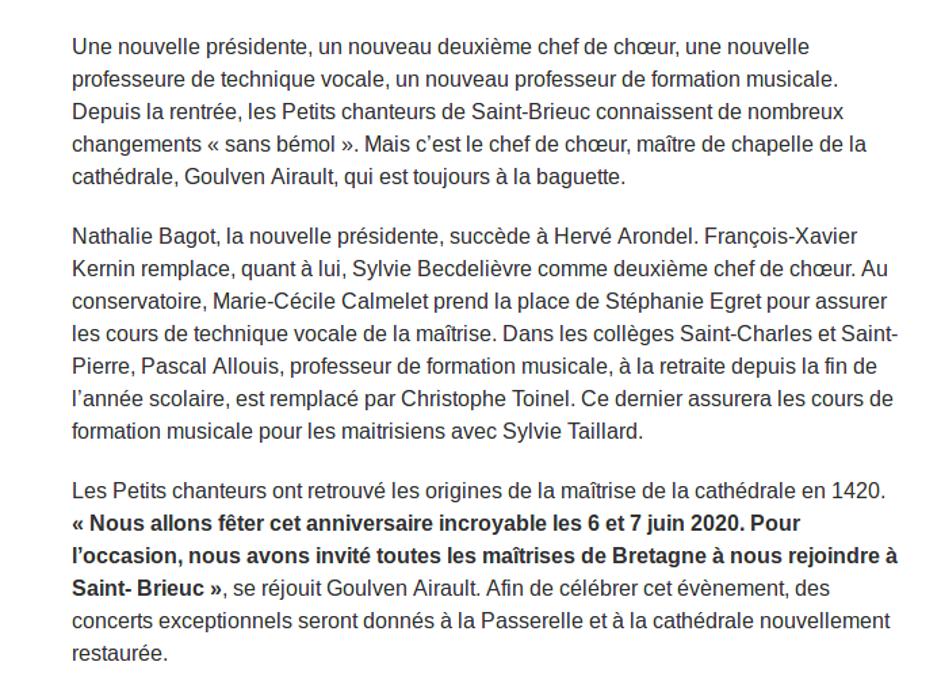 Saint-Brieuc. Les Petits chanteurs auront 600 ans en juin screenshot2019-11-07saint-brieuclespetitschanteursauront600ansenjuin1